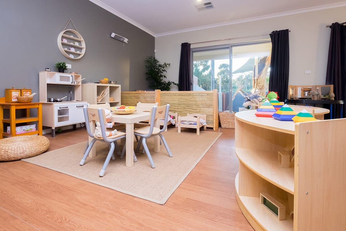 Kindy room home corner with kitchen at Keiki early learning hamersley