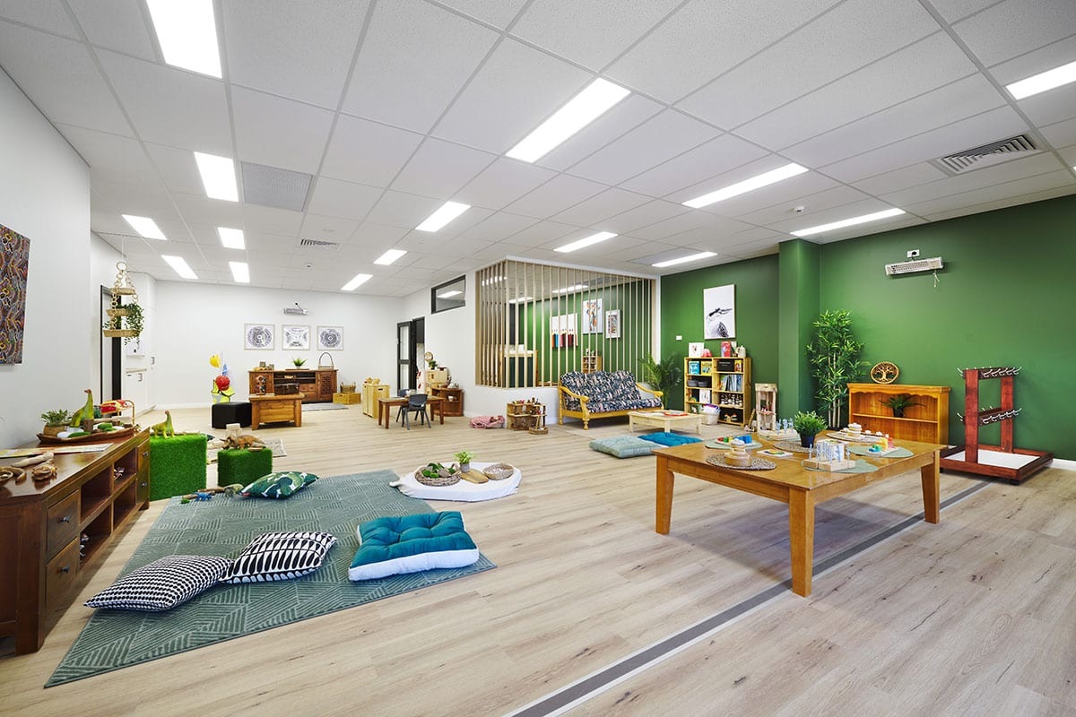 Photography of the interior of a child care kindy room