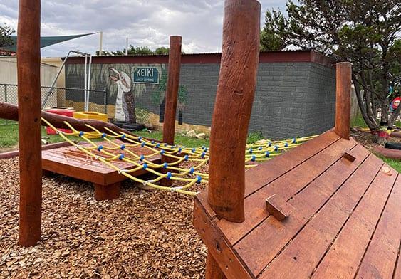 Outdoor playground at Keiki Mindarie Primary OSHC