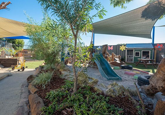 Mindarie childcare outdoor playground with slide