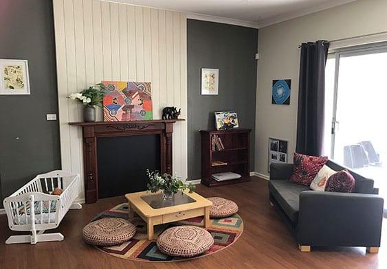 Keiki Hamersley fireplace seating area in kindy room