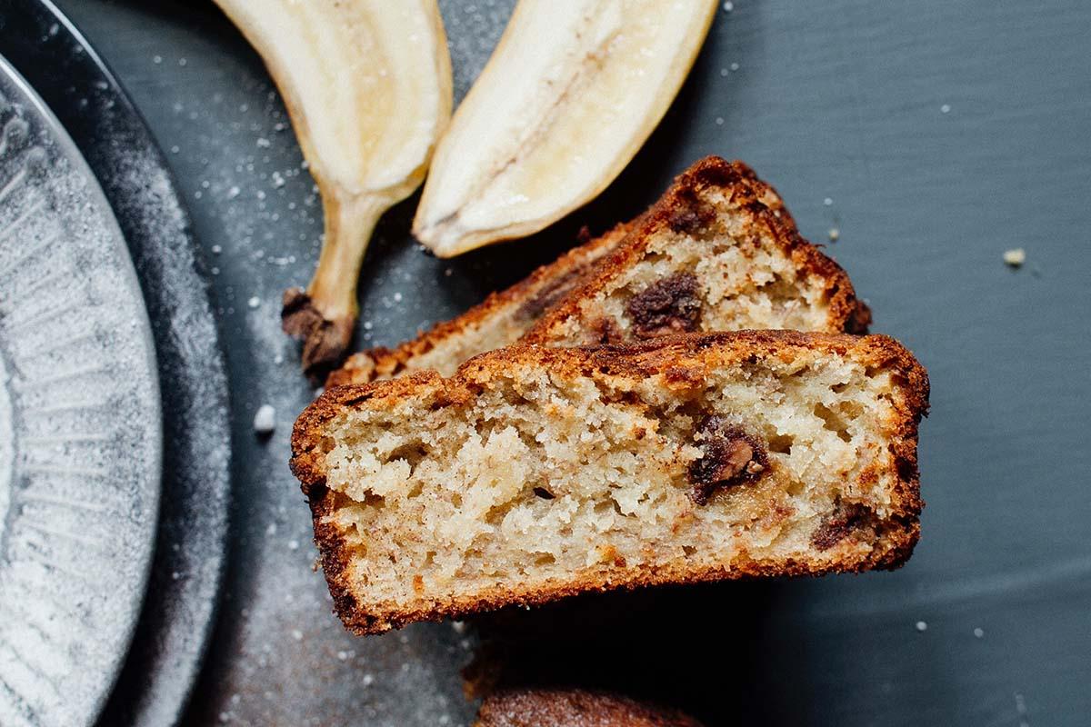 banana choc chip loaf